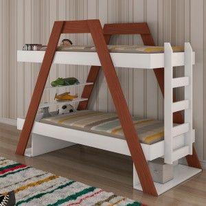 Beliche Solteiro Moderno Arca Móveis Novo Horizonte (Não acompanha cama auxiliar) Branco/Mel