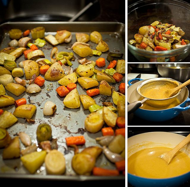 One of my favorite food bloggers presents a delicious looking Carrot, Potato, and Leek soup.