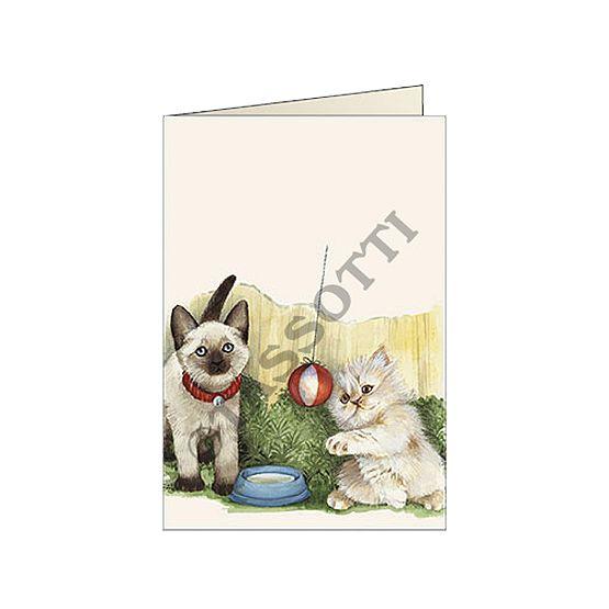 "Biglietti d'auguri Tassotti ""Gattini bianchi"" - Greeting cards Tassotti ""Gattini bianchi"" - Tarjetas de felicitaciòn Tassotti ""Gattini bianchi"""