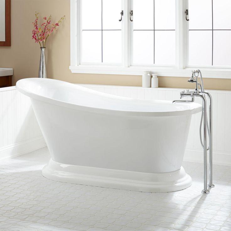 1000 ideas about acrylic tub on pinterest freestanding for Slipper tub bathroom design