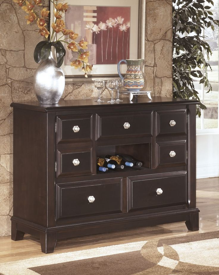 Ridgley   Dark Brown   Dining Room Buffet | Dining Room Servers, Buffets  And China Cabinets | Pinterest | Dining Room Buffet, Buffet And Dining Room  Server Part 63