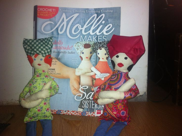 Betty dolls , made in material to match little dresses for my Niece and god daughter