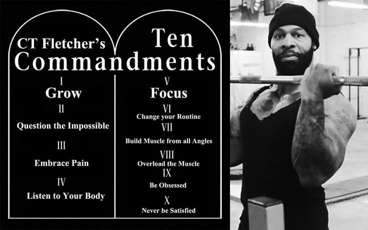 CT Fletcher Gives the 10 Commandments of F*ckin Muscle ...