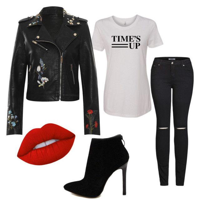 """""""Time's up!"""" by styles-bykim on Polyvore featuring WearAll, 2LUV, Lime Crime and MyFaveTshirt"""