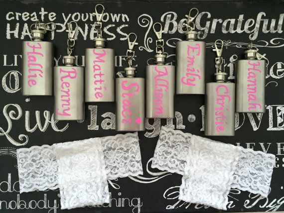 Flask garter-Garter flask holder-Option to INCLUDE Mini Flask-Bachelorette party Garter-Wedding Day Bridesmaid Garter-Party Garter-FlaskGift