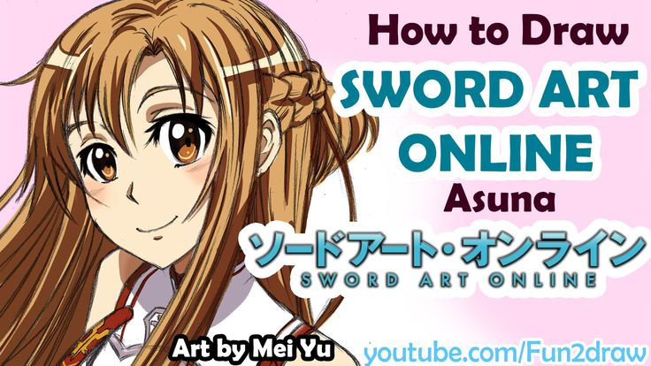 How to Draw Anime - Sword Art Online Asuna