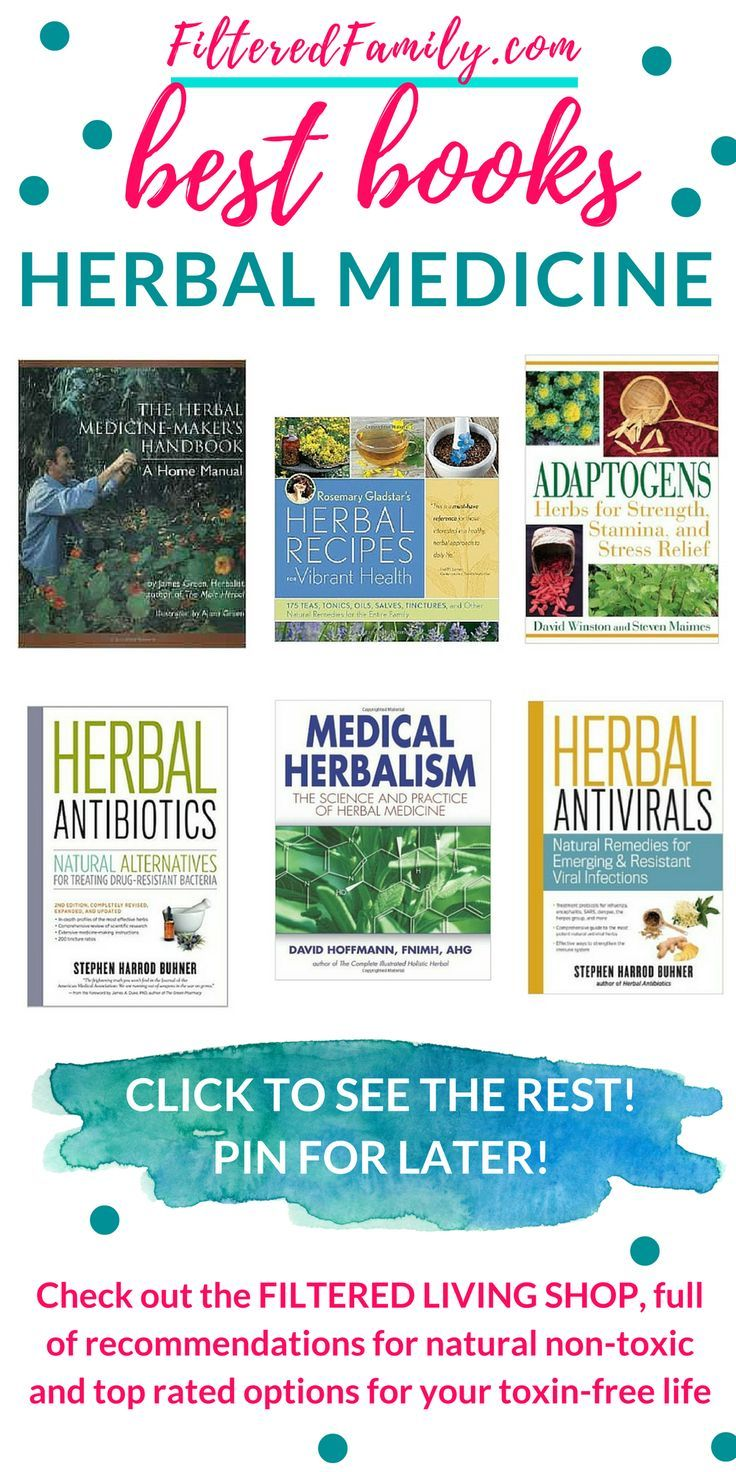 Learn herbal medicine with these great books. Heal your family naturally and safely with the easy recommendations in these books, from beginner to pro! See the rest at the Filtered Living Shop | http://FilteredFamily.com