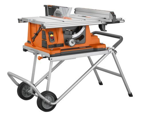 Ridgid R4510 Heavy-Duty Portable Table Saw with Stand