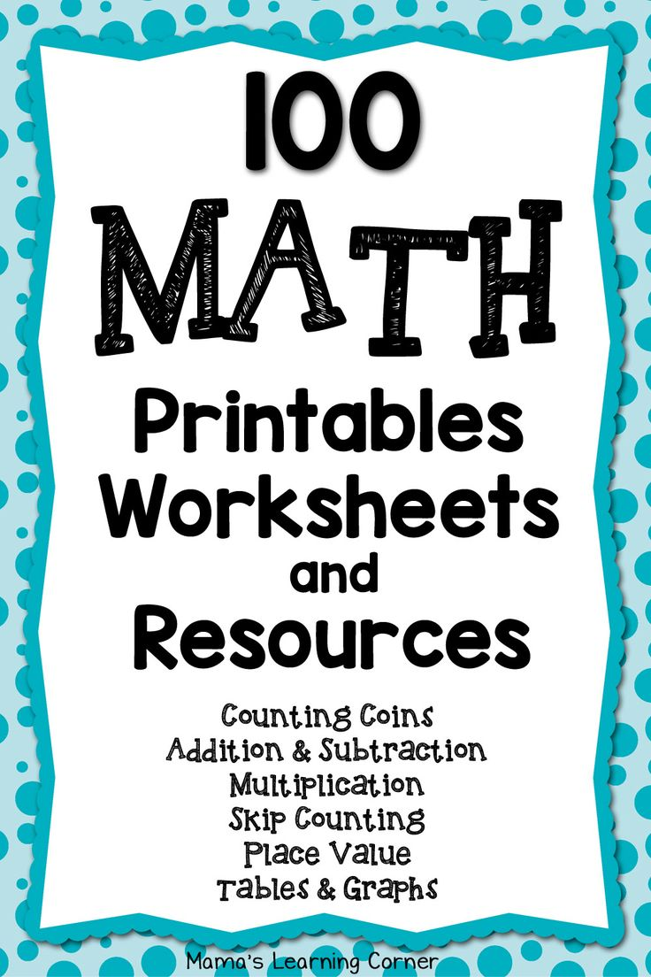 Find over 100 math printables, worksheets, and resources for your young learner!