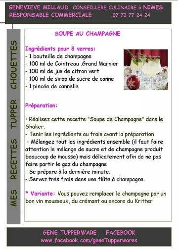 Tupperware - Soupe au champagne