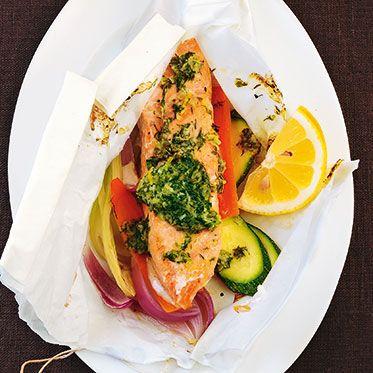 Kräuter-Lachs im Pergament Rezept | Küchengötter