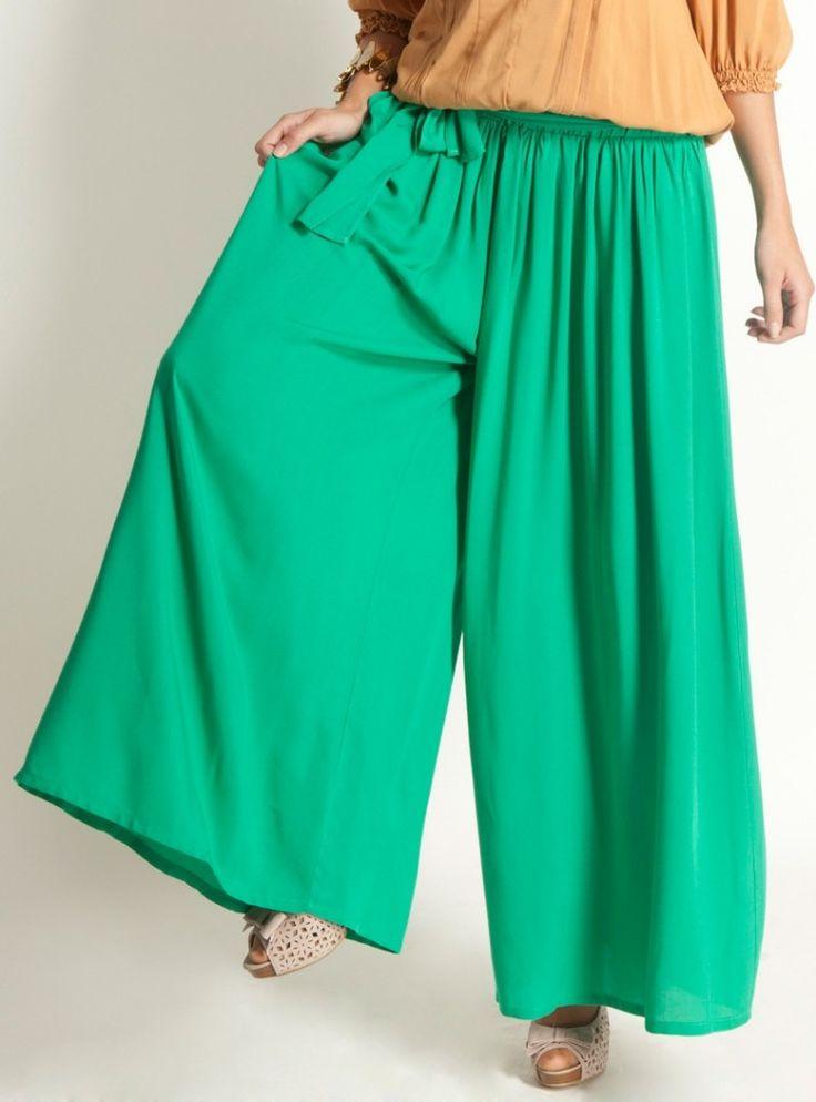 yeşil pantolon etek modeli