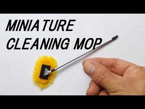 Really work!! How to make a miniature cleaning mop. ミニチュアモップクリーナーの作り方 - YouTube