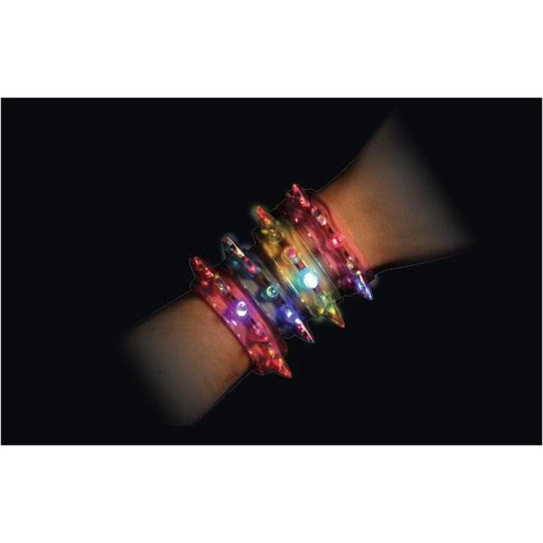 Flashing spike bracelet cuff