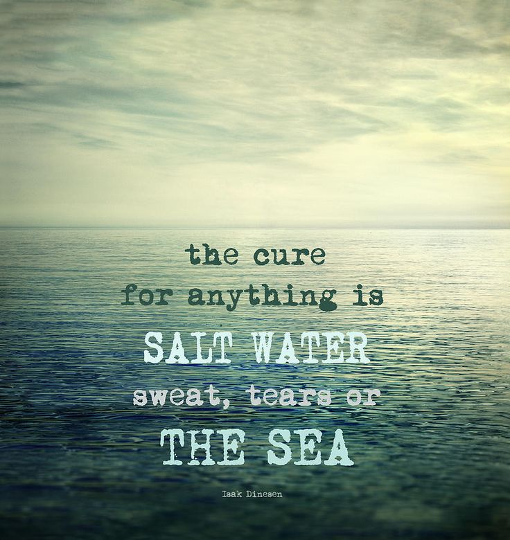 The Cure For Anything Is Salt Water Sweat Tears Or The Sea Photograph