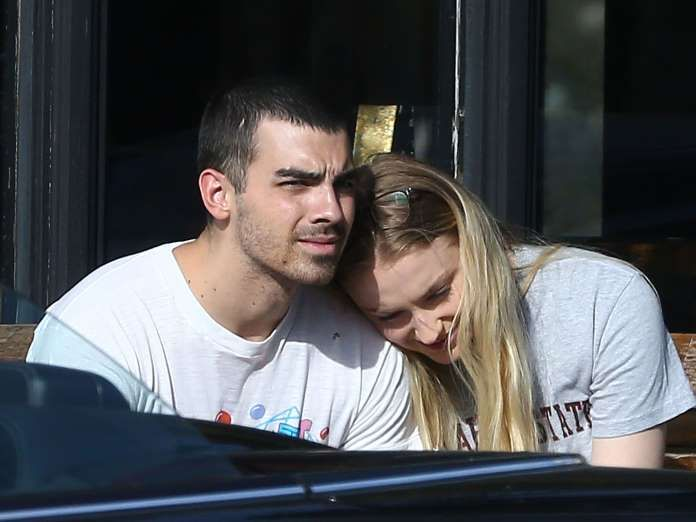 Celebrity PDA of 2017 - December 11, 2017:  Sophie Turner and pop star Joe Jonas were seen cuddling on Ventura Boulevard in Los Angeles on April 2.