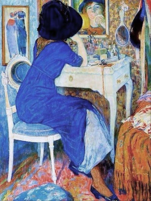 Woman at a Make-up Table, 1911 ~ Leo Gestel ~ (Dutch: 1881-1941)