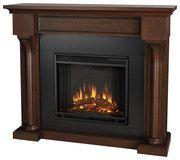 Real Flame - Verona Electric Fireplace - Chestnut Oak