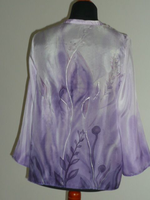 hand painted  tunic (silk)
