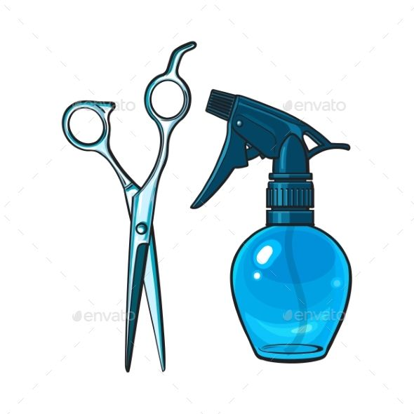 Plastic Hairdresser Spray Bottle and Professional