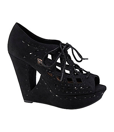 Gianni Bini Georgette Jewel-Detail Wedges | Dillards.com $89.99