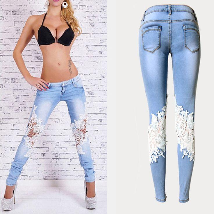 Stylové dámské džíny s krajkou – velikost L Na tento produkt se vztahuje nejen zajímavá sleva, ale také poštovné zdarma! Využij této výhodné nabídky a ušetři na poštovném, stejně jako to udělalo již velké množství …