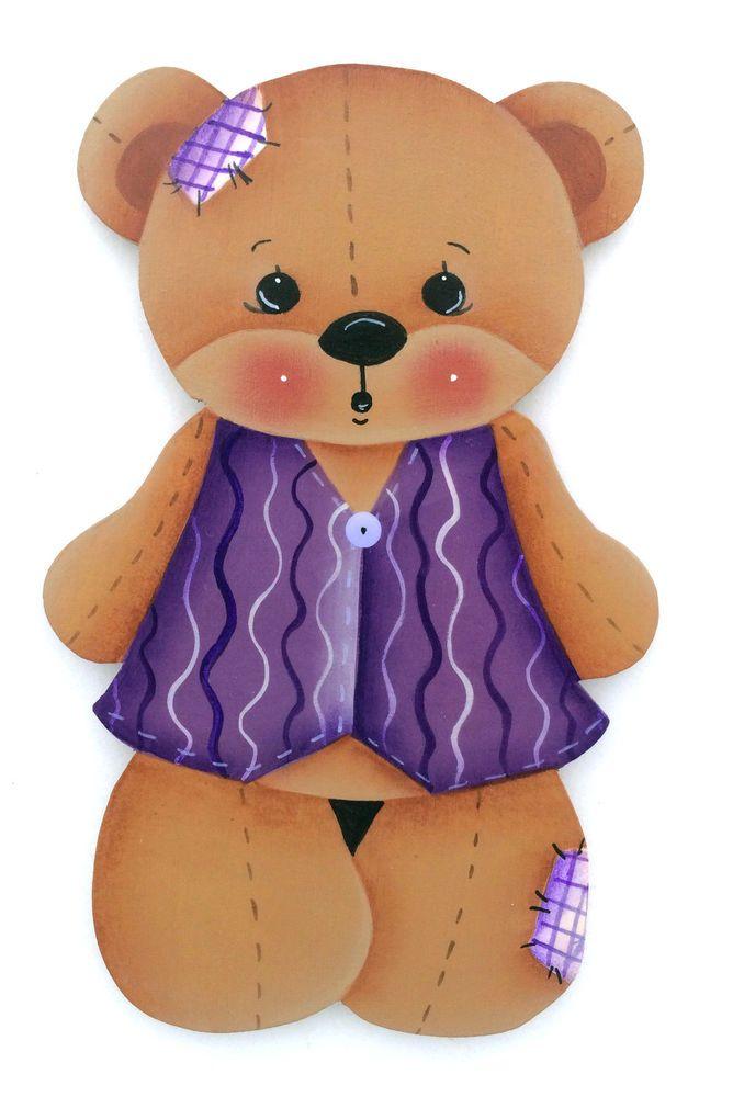 HP FRIDGE MAGNET Bear in a purple vest