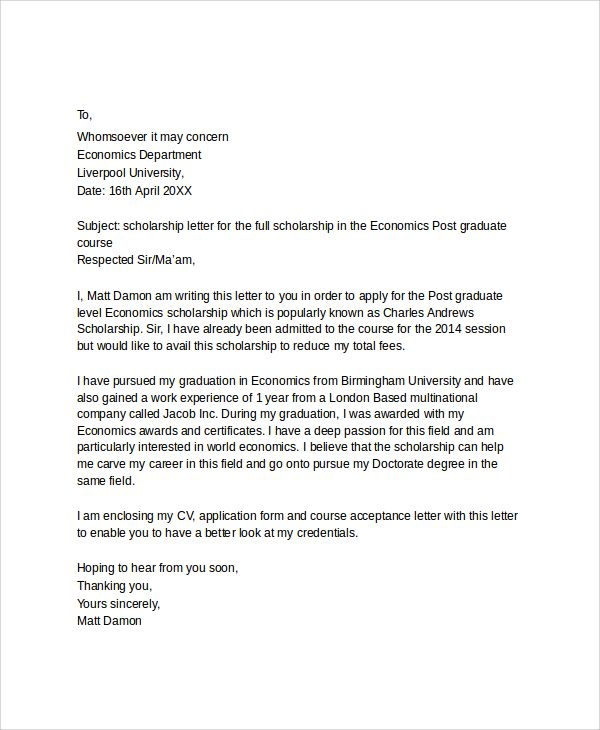 Good Letter Applying For Education Job Application Sample With Bursary   Sample Scholarship  Application