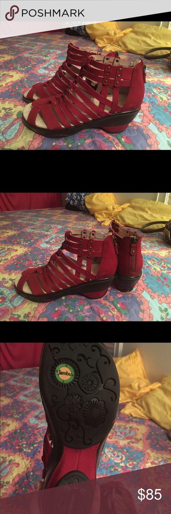 Jambu Sugar Wedge Pump Jambu Sugar Wedge Pump Red. Size 6. New. Jambu Shoes Wedges