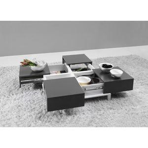 Table basse design avec rangements int gr s deploy salon - Table basse contemporaine design ...