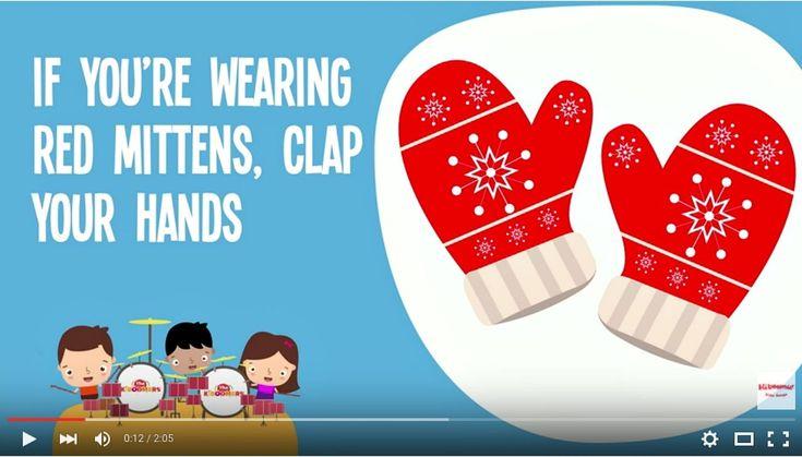 Winter Mittens Song | Song Lyrics Video for Kids | Winter Songs | The Ki...