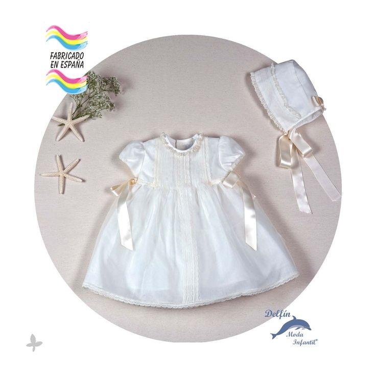Vestido de bebe para bautizo ARTESANIA AMAYA cristal modelo 97223 (BAJO PEDIDO)