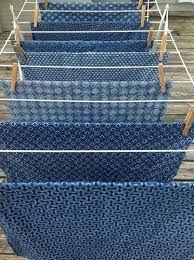 Shweshwe fabric drying - Hyggeligt Fabrics