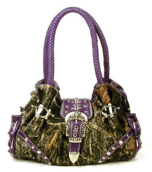 Western Purple Camouflage Handbag. #popular #fashion #purse #womens #style #hot