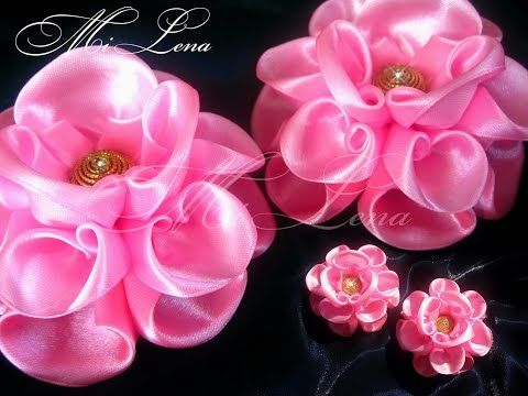 Пышный бант из ленты / Мастер-класс / DIY Hair Bow / Beautiful Ribbon Bow / Bow tutorial / Kanzashi - YouTube