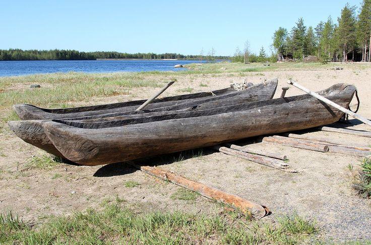 Dugout boats Kierikki Centre Oulu 20130526 - Prehistory - Wikipedia, the free encyclopedia