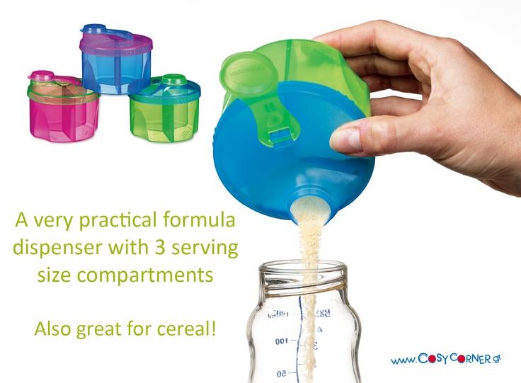3 ξεχωριστές θήκες, ώστε να έχετε γάλα σκόνη έτοιμη για να φτιάξετε 3 δόσεις των 225ml γάλα. Καπάκι που κλείνει αεροστεγώς και με εύκολη ροή. Τέλεια λύση και για δημητριακά!  http://www.cosycorner.gr/el/category/ώρα-για-φαγητό/συσκευή-για-γάλα-σκόνη/