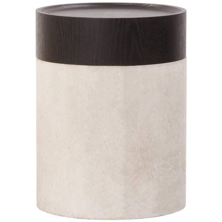 TOTEM Contemporary Side Table in Concrete and Stained Black Oak | From a unique collection of antique and modern side tables at https://www.1stdibs.com/furniture/tables/side-tables/