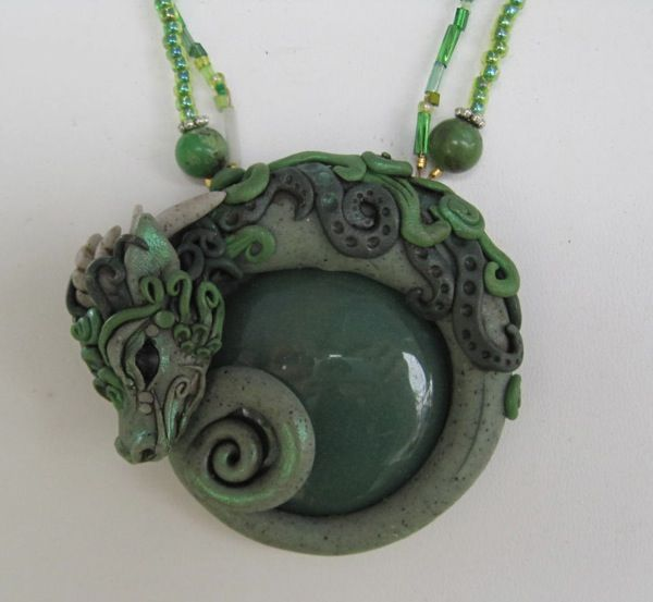 Elven Elysium dragon pendant