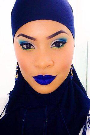 I used meltcosmetics in DGAF blue lipstick