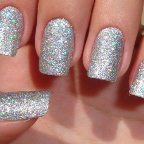 If you have a sparkly nail polish but you want it to be more like a sold polish, rather than just extra bling, take craft store glitter and sprinkle a little in the bottle, this way, it will add more sparkle.