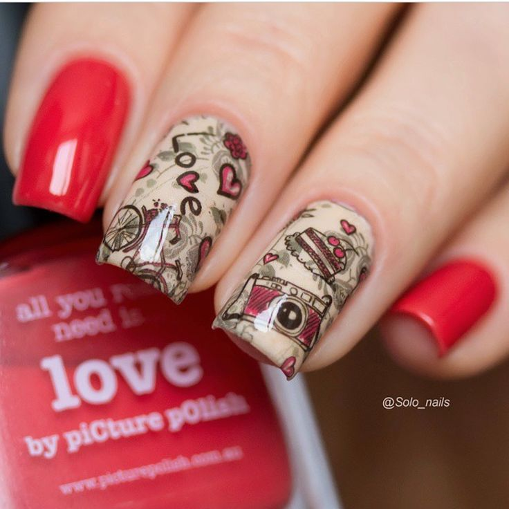 piCture pOlish 'Love + Nude' = vintage love nails by Solo Nails BEAUTIFUL www.picturepolish.com.au