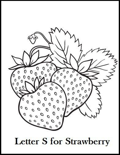 25 best Fruit coloring page images on Pinterest | Strawberries ...