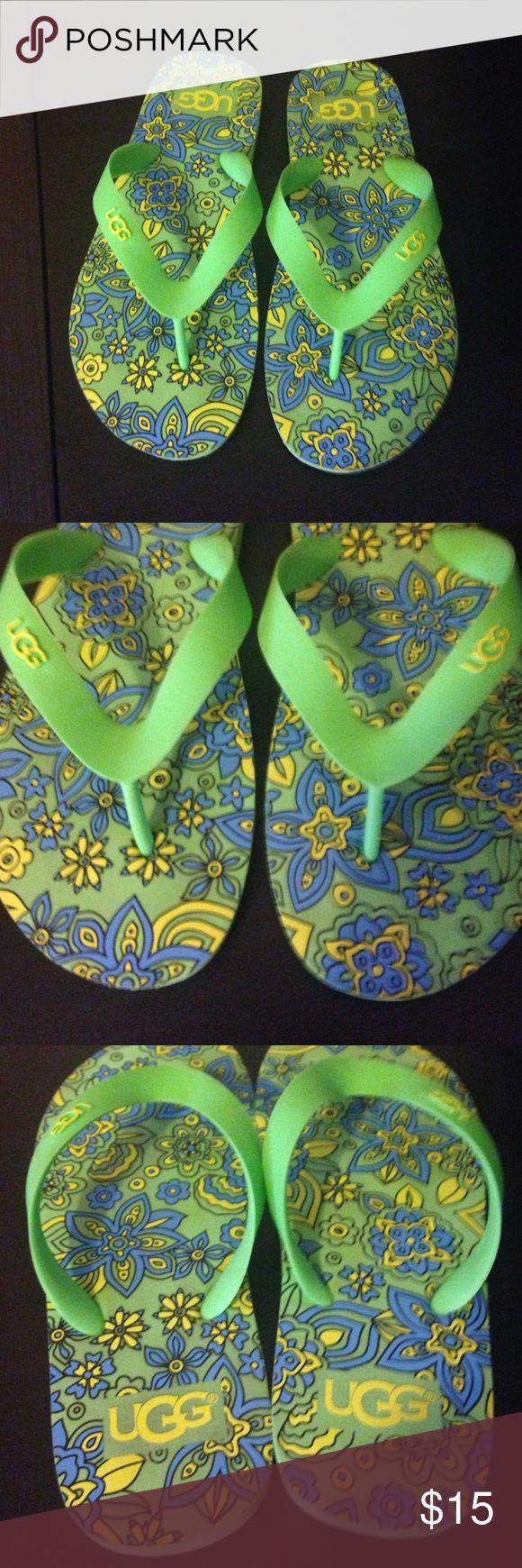 Shoes sandals flip flops - Ugg K Flare Floral Flip Flop Sandals