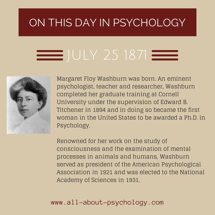 women in psychology margaret washburn Why major in psychology at washburn psychology is a compelling and fascinating field of study psychological science attempts to understand the biological, psychological and sociocultural influences on how we think, feel and act.