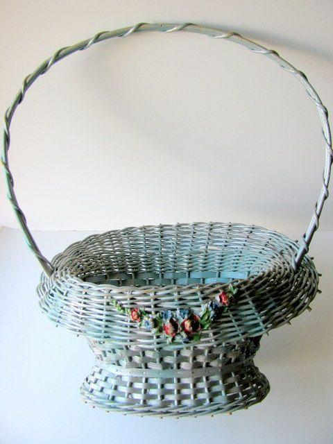 Vintage Barbola Wedding Basket