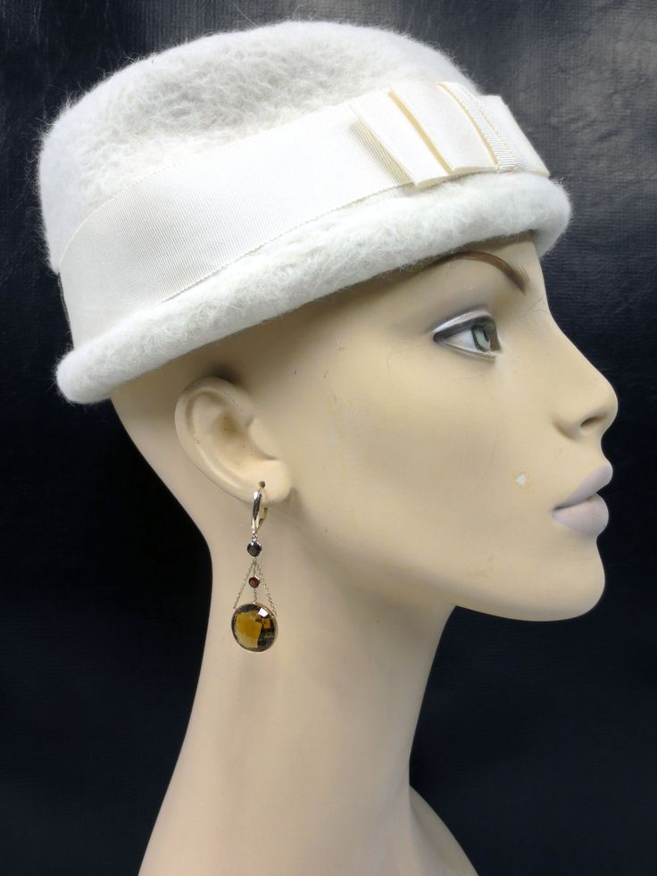 """Vintage 1950's Woman Mannequin Head Bust 19"""", Art Deco Jewelry Store Display"""