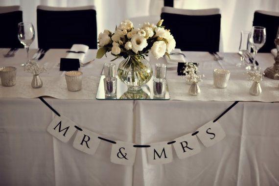 Mr & Mrs Wedding Banner... Paper Banner Wedding by CreativePapier, $20.00