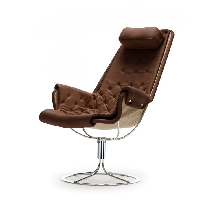 Jetson fåtölj - Jetson fåtölj - brunt läder, classic soft