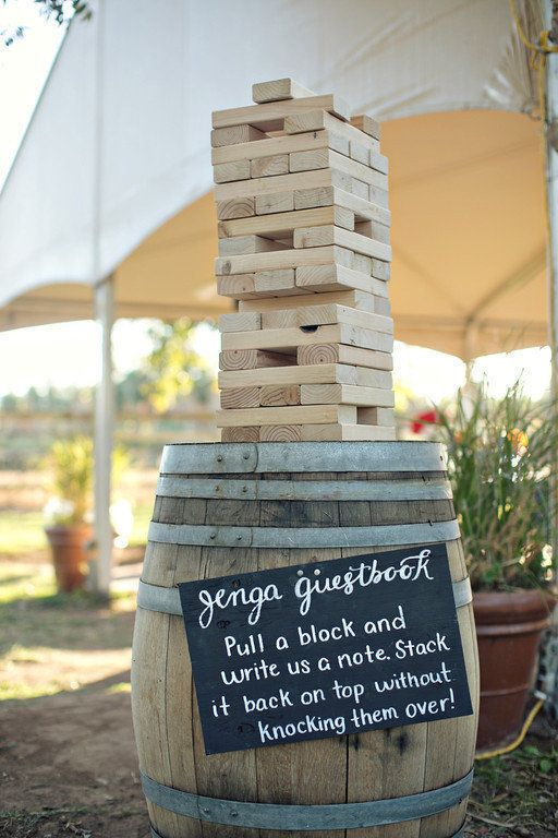 Build memories with a Jenga block guest book | Josh Snyder Photography